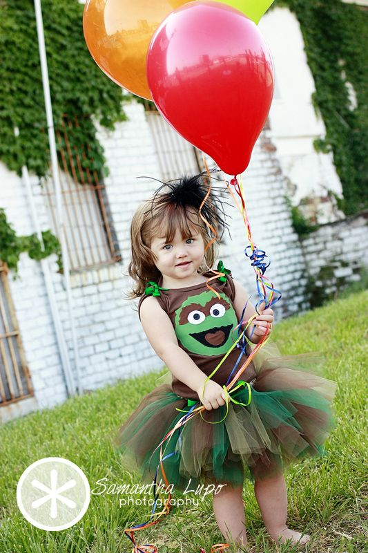 Oscar the Grouch tutu set by Fit For A Princess.