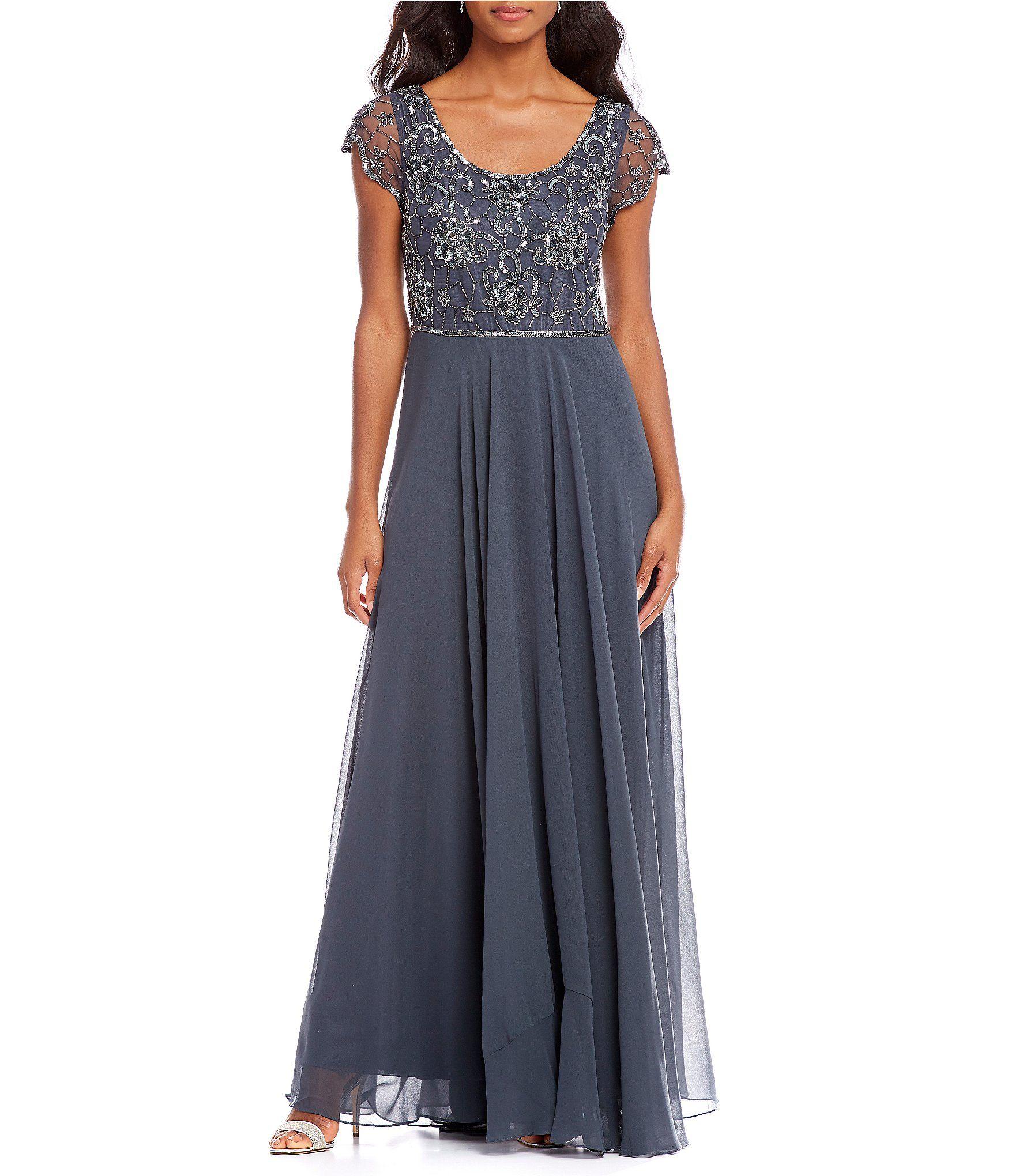 Jkara Floral Beaded Scoop Neck Gown | Pinterest | Vestiditos