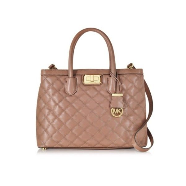 Michael Kors Handbags Hannah Large Dusty Rose Quilted