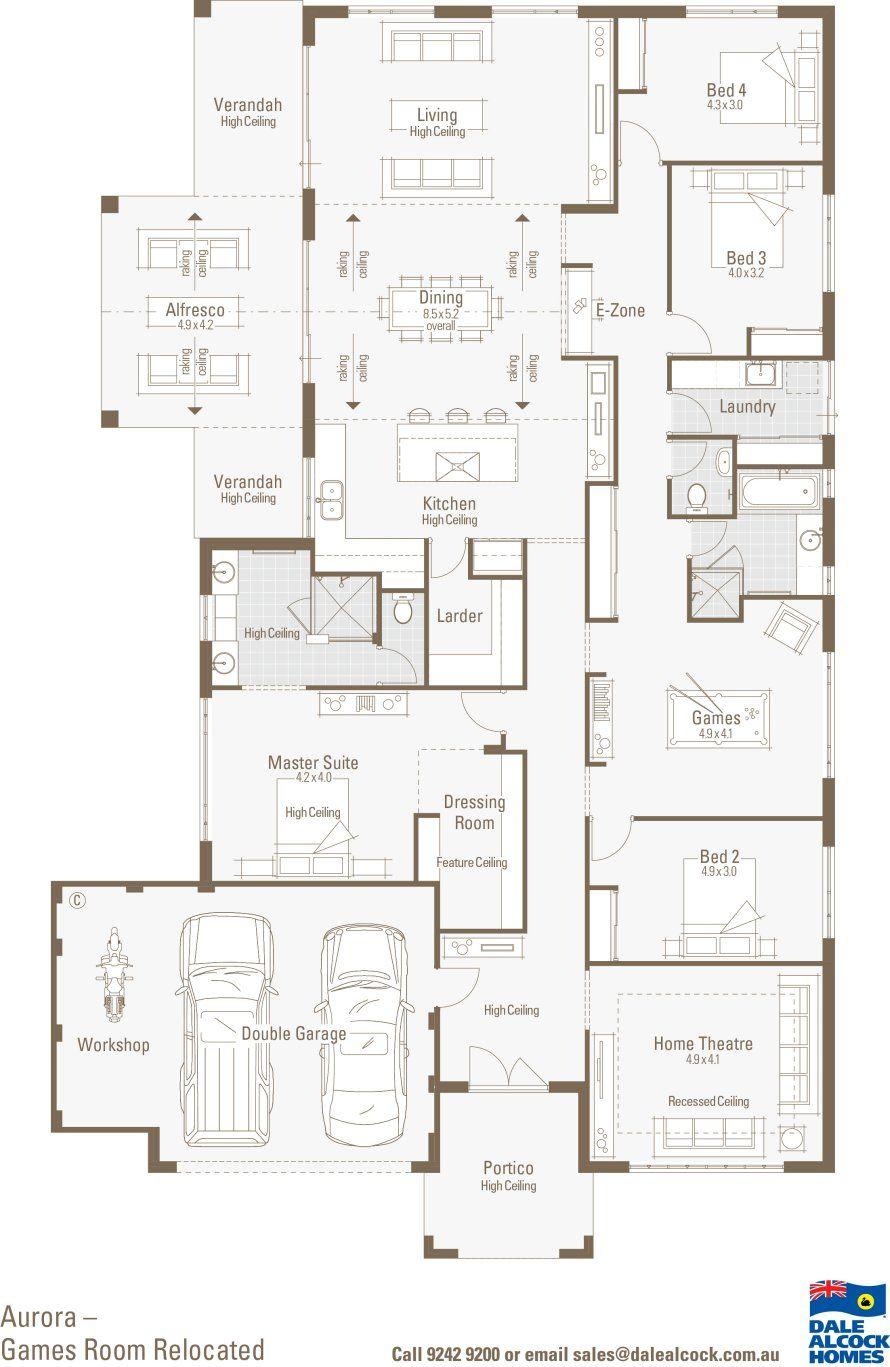 Dale Alcock Homes Large House Plans Home Design Floor Plans Garage House Plans