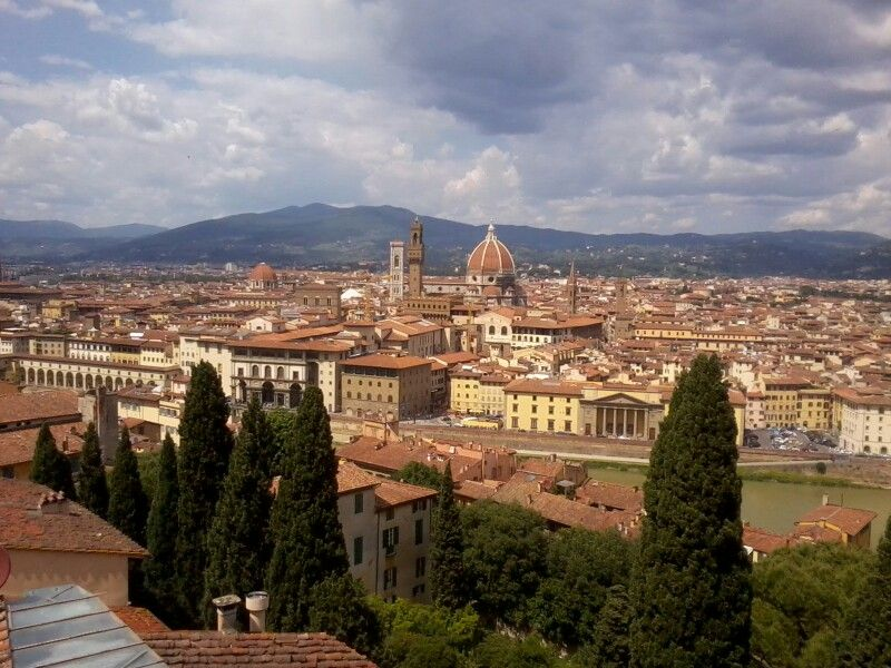 Overlooking the center of Florence from the hilltop Villa Bardini
