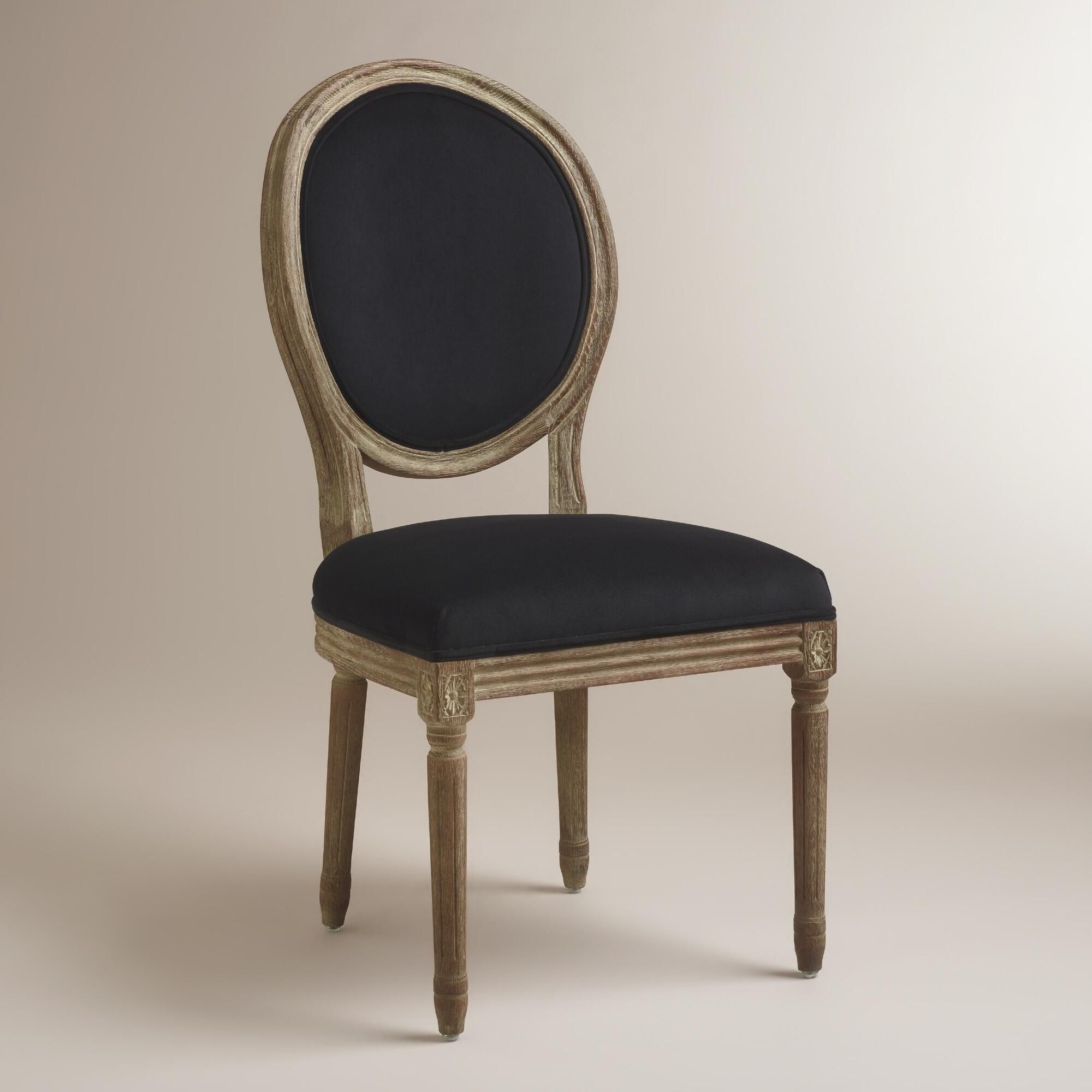 Black Round Back Paige Dining Chairs Set Of 2 World Market