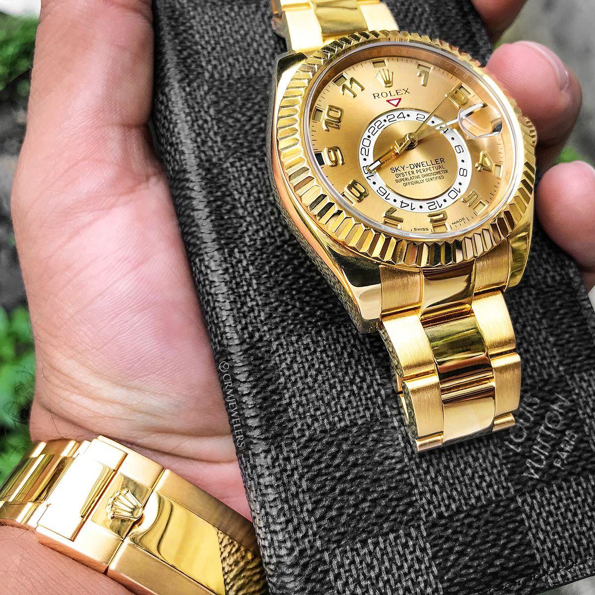 Rolex yellowgold skydweller wow luv pinned by cynthia