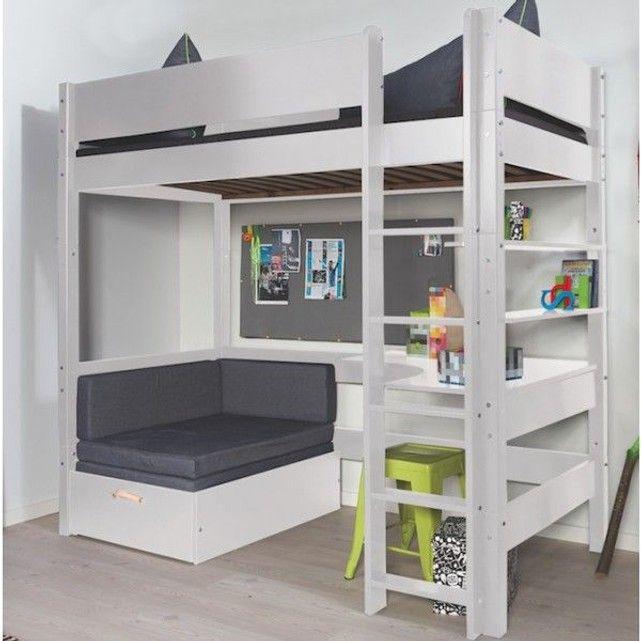 lit mezzanine avec banquette fenris decoloopio la. Black Bedroom Furniture Sets. Home Design Ideas