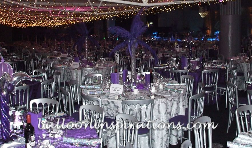 Balloon Christmas Party Decorations Winter Wonderland With Purple Theme Decor