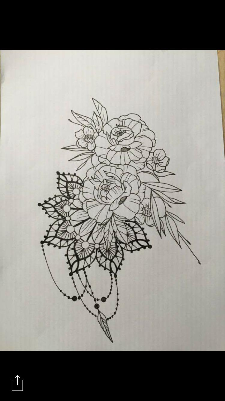 Mandala Flowers Tattoo Design By Santos Norway Tattoos Mandala