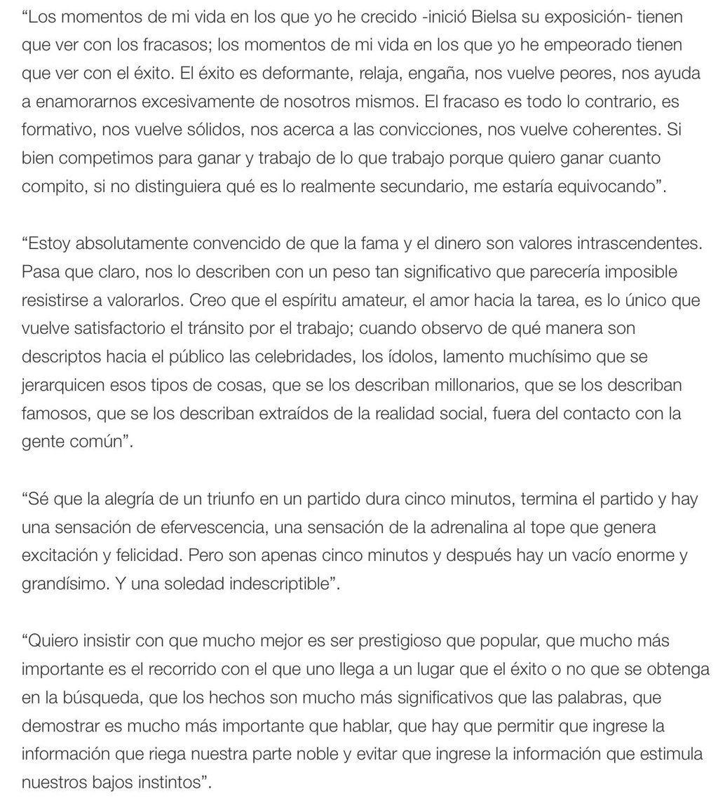 Discurso De Marcelo Bielsa Sobre El éxito Mensajes