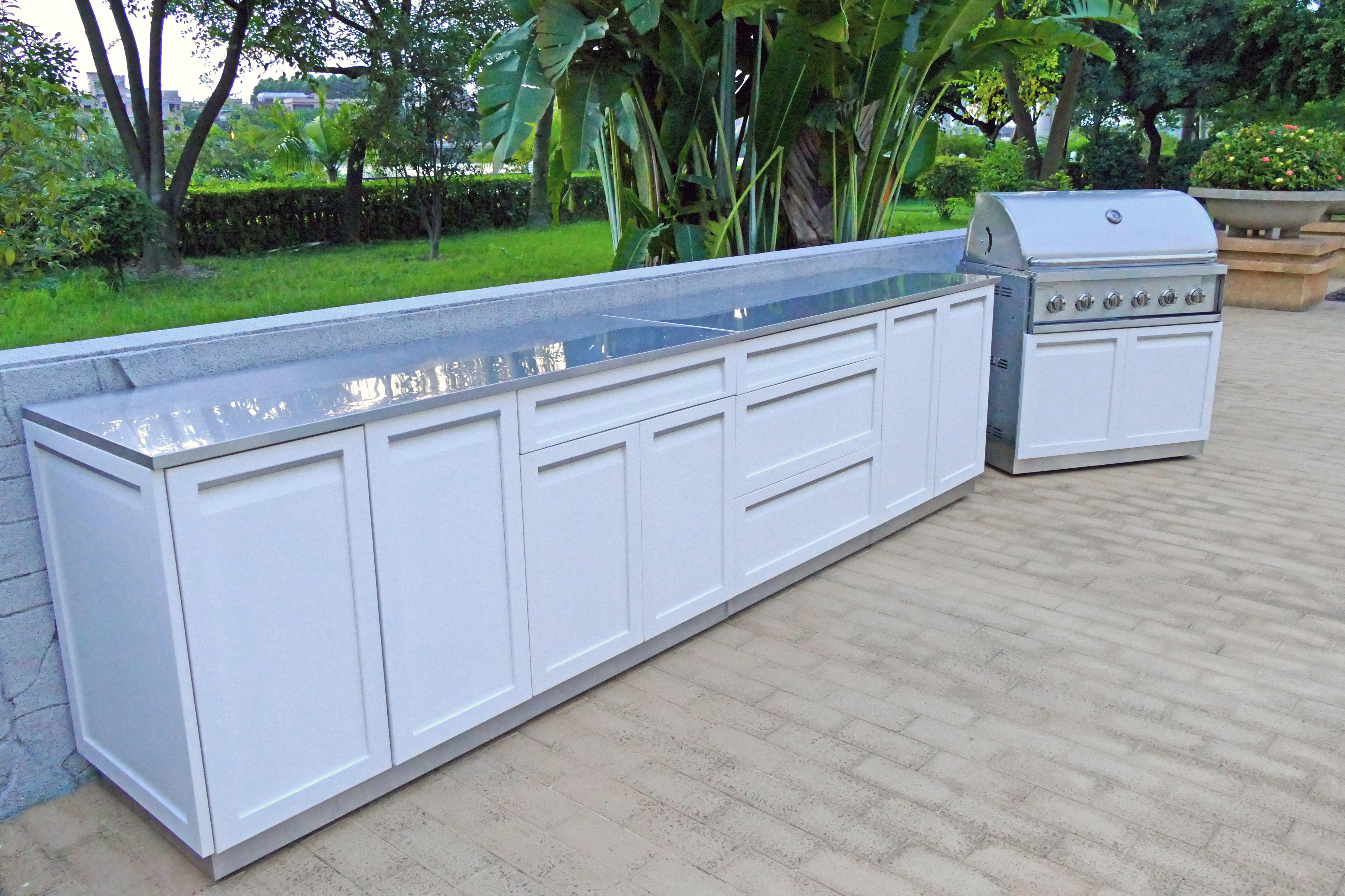 4 Piece Outdoor Kitchen Cabinet Set W40085 4 Life Outdoor Inc Outdoor Kitchen Cabinets Kitchen Set Cabinet Outdoor Kitchen
