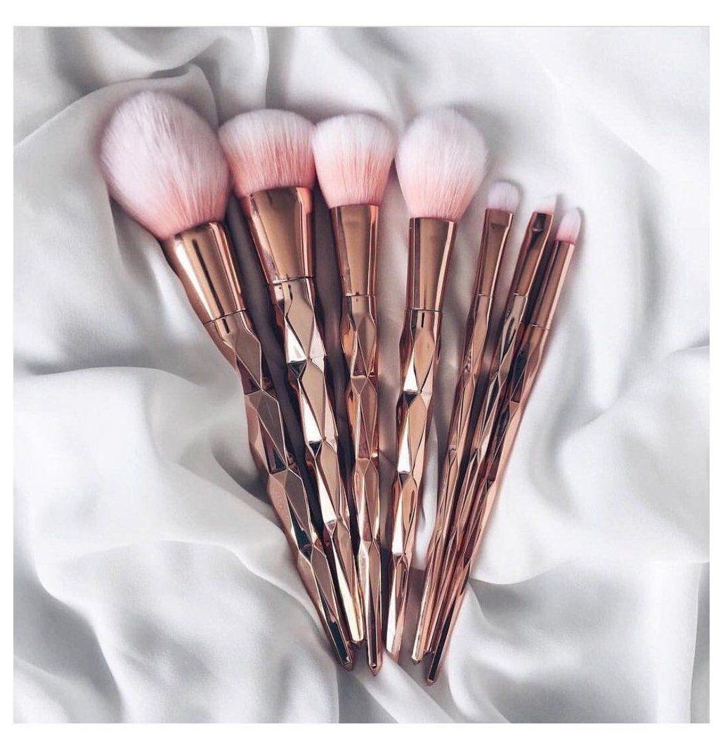 LuxeRose Gold Brush Makeup Brushes Set 7pcs brush