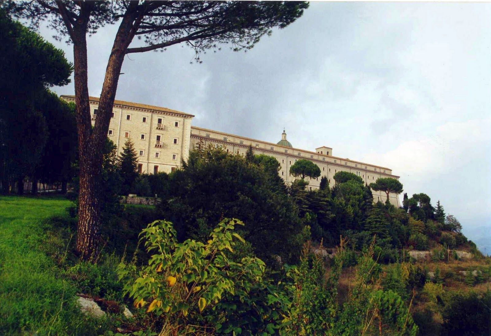 the monastery on Monte Cassino