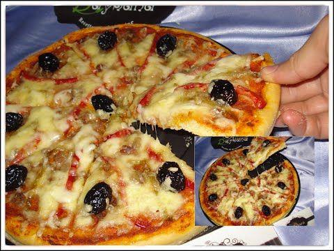 شهيوات ريحانة كمال بيتزا باللحم المفروم بعجين سهل و طري Food Vegetable Pizza Pizza