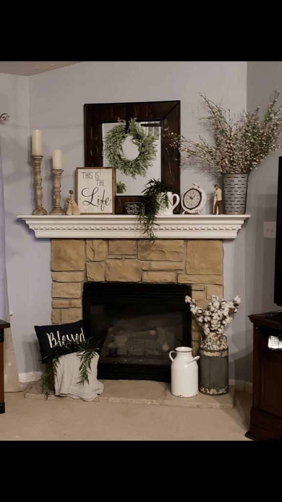 17 Amazing Fireplace Mantel Ideas To Bring Style To Your Fireplace Farmhouse Mantle Decor Fireplace Mantel Decor Fireplace Mantle Decor