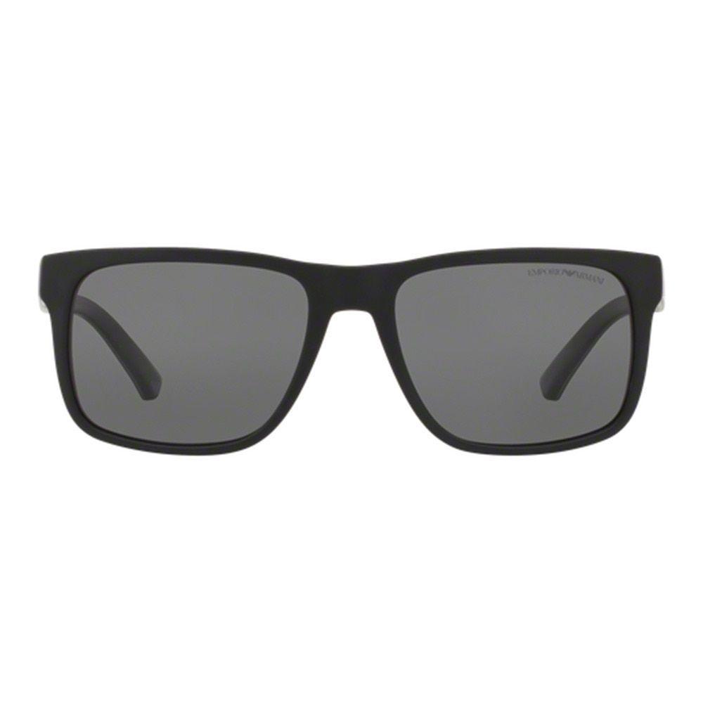870af329b68f Emporio Armani Men s EA4071 504281 Black Plastic Square Sunglasses - Free  Shipping Today - Overstock.