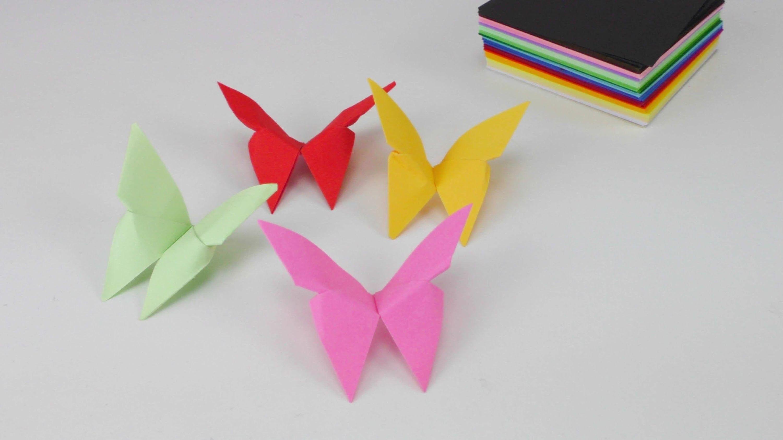 Origami Deko frühling origami schmetterling deko ostern simple origami