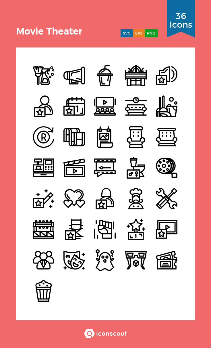 Download Download Movie Theater Icon pack - Available in SVG, PNG ...