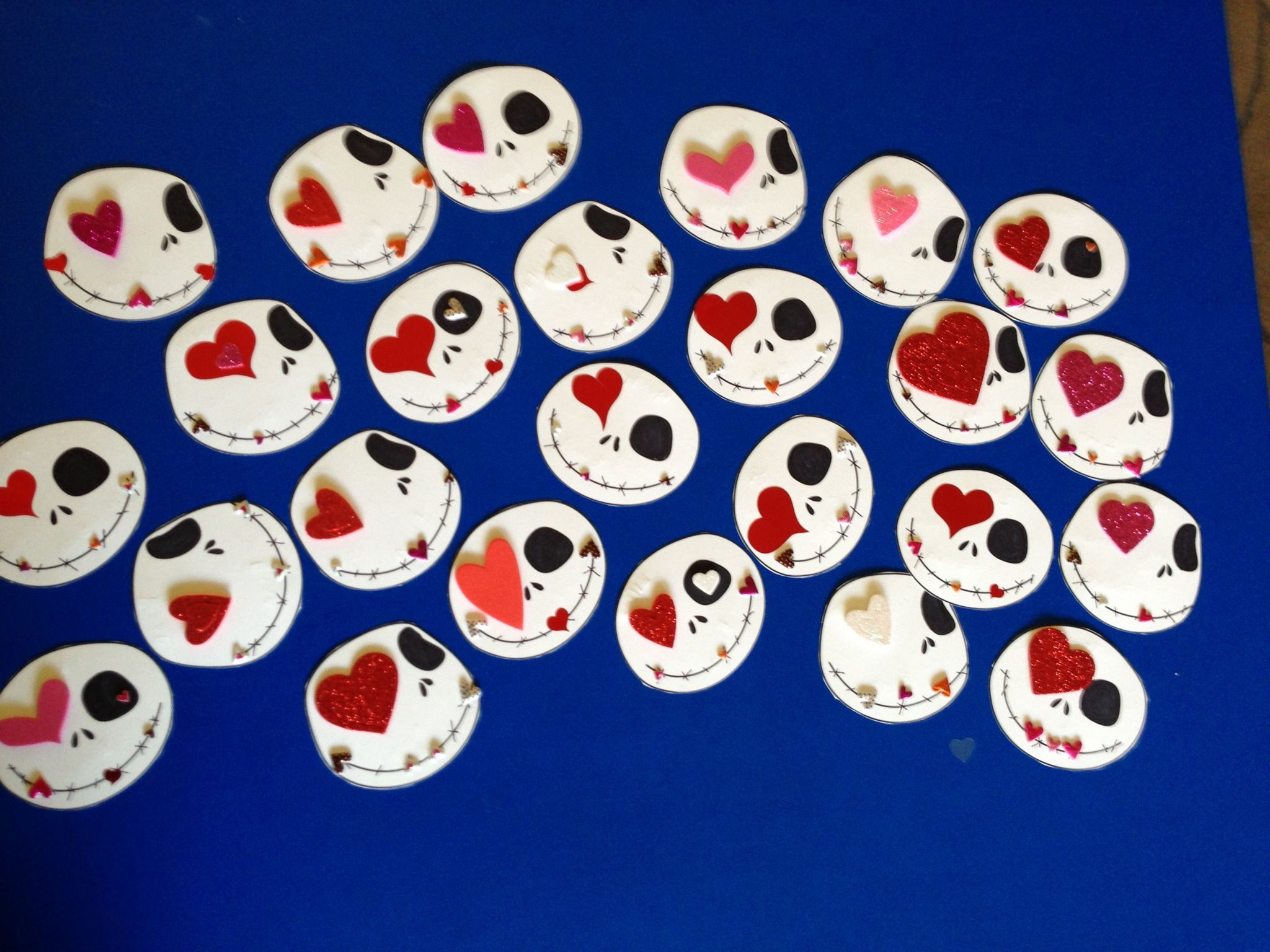 Final Product - Sweet Skellington Valentines. We has a blast making these (from spoonful.com).