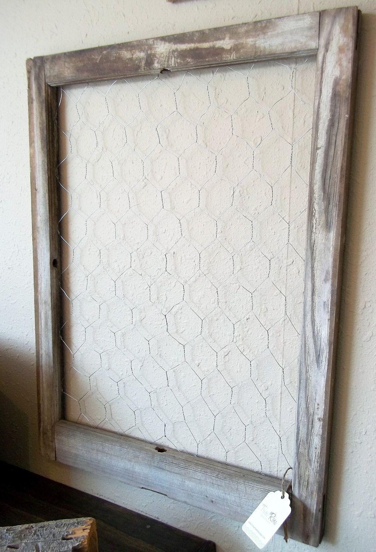 Barn Wood Chicken Wire Window | projects. | Pinterest | Chicken wire ...
