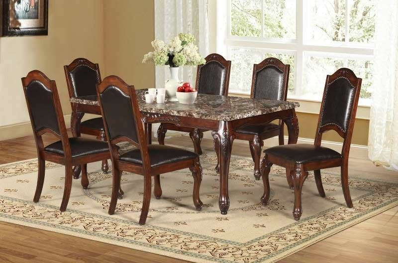 Mariano Furniture D37 7 Piece Dning Table Set Bq D73 7pc