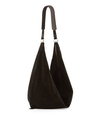 Sling 15 Tassel Suede Hobo Bag, Black by THE ROW at Neiman Marcus.