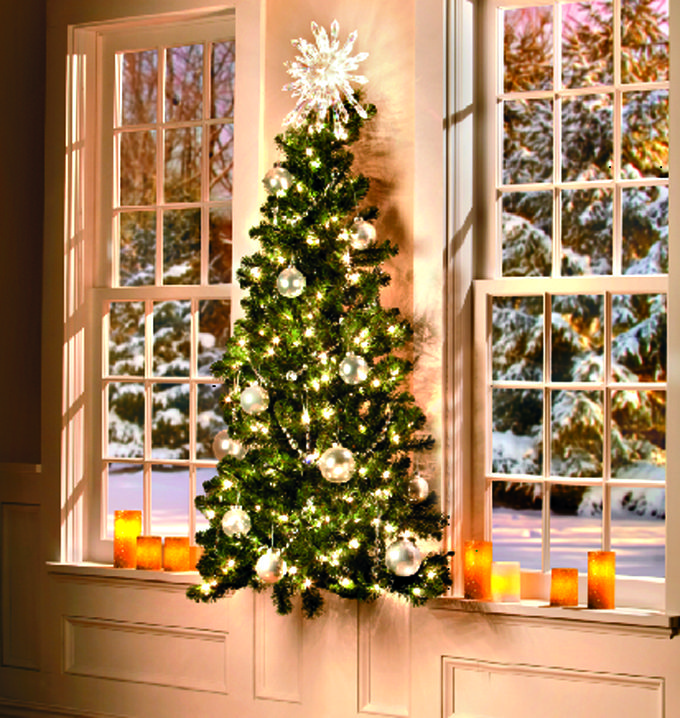 flat xmas tree idea decorating small spaces apartments decorate your small space into a christmas wonderland