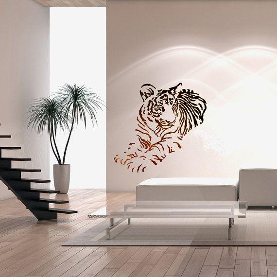 Wall stencils large size airbrush stencil template tiger animal for wall stencils large size airbrush stencil template tiger animal for diy decor solutioingenieria Gallery
