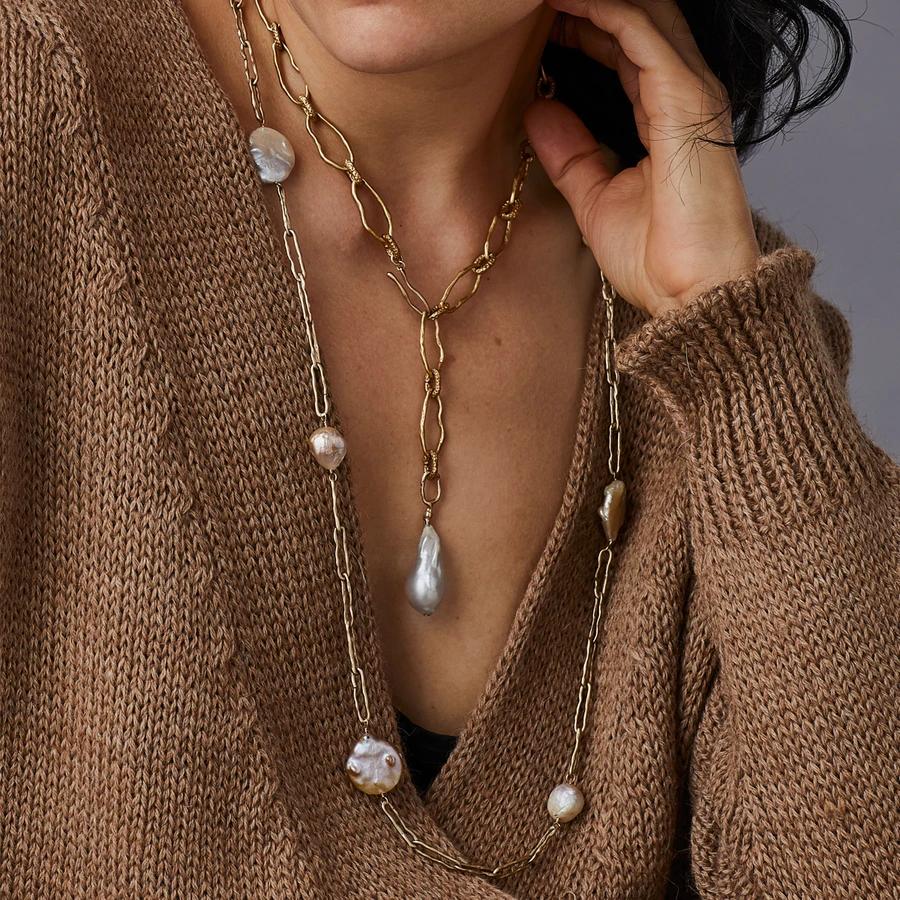 Photo of PERLA BRONZE BAROQUE PEARL NECKLACE