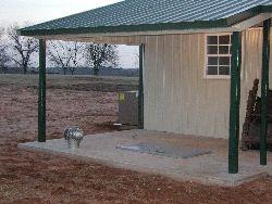 Large Patio Style Storm Shelter