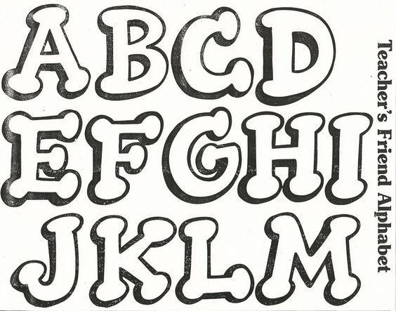 Moldes De Letras Para Carteles Feliz Cumpleanos Graffiti Tattoo Lettering Alphabet Lettering Alphabet Fonts Graffiti Words