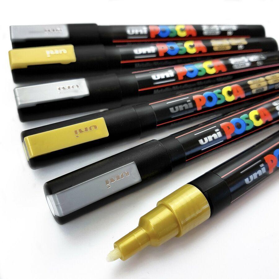 Uni Posca PC-3M Paint Pen Art Marker Pens Set of the 6 Most Popular Colours