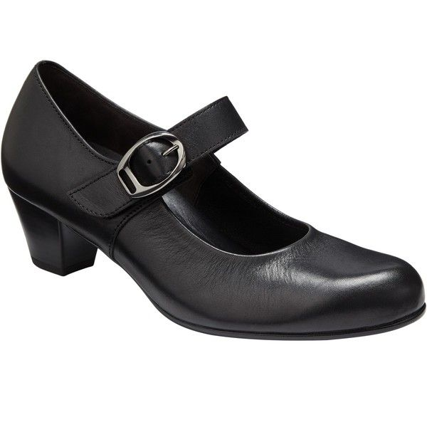 Gabor Dunelm Extra Wide Fit Leather Mary Jane Court Shoes, Black ($140) ❤