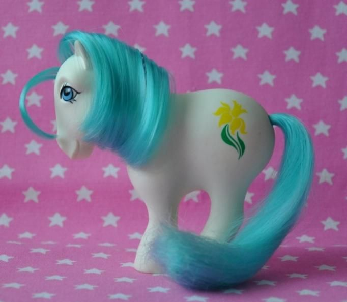 EXTREMELY RARE Alternate Birth Flower Pony March / Daffodil [MLP My Little Pony G1 Hasbro]