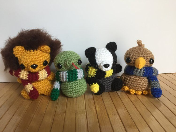 All Four Magical House Animals PDF Amigurumi Patterns — Moon's Creations