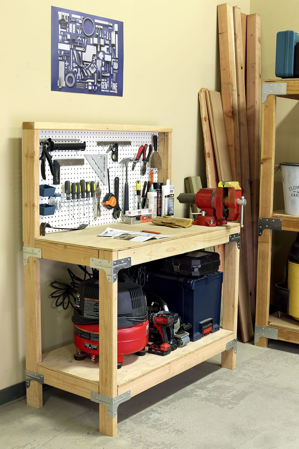 Diy Workbench Diy Storage Workbench Diy Storage Shelves Diy