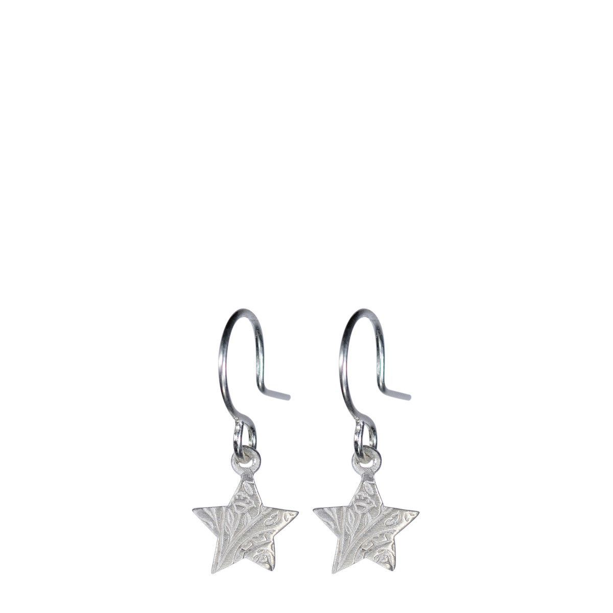 Sterling Silver Small Paisley Star Earrings