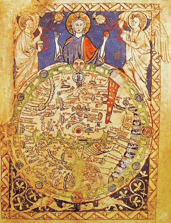Medieval map showing jerusalem at the center of the world maps medieval map showing jerusalem at the center of the world gumiabroncs Choice Image