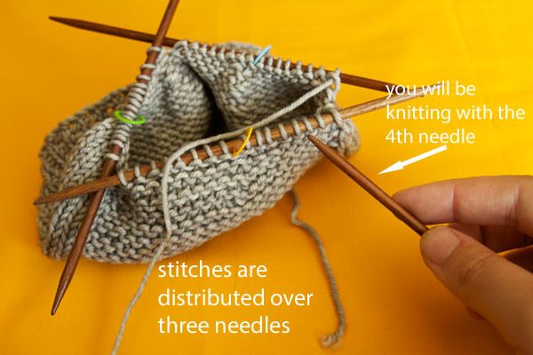 how to use round knitting needles