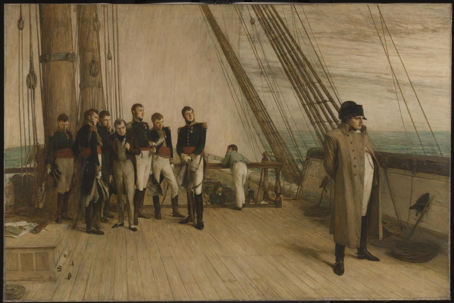Napoleon Aboard Bellerophon William Quiller Orchardson Napoleon Hms Bellerophon Ship Paintings