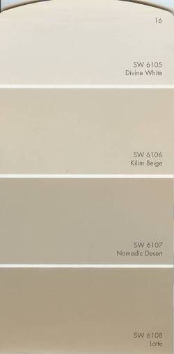 Sherwin williams divine white 6105 and kilim beige 6106 - Sherwin williams foothills interior ...