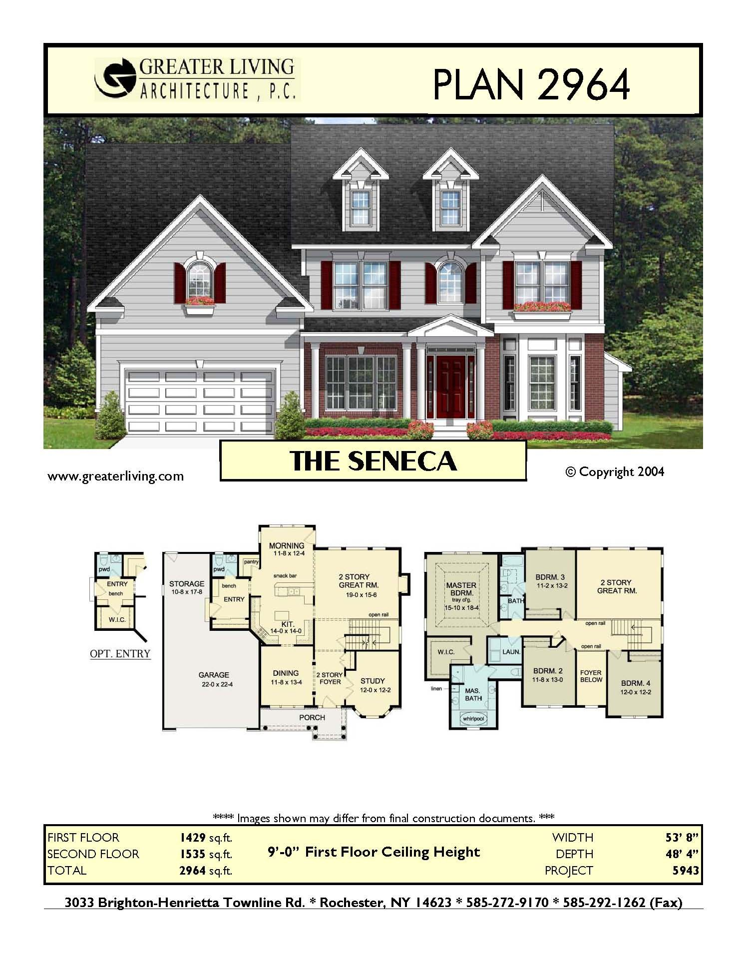 Plan 2964 The Seneca House Layout Plans House Plans Building A House