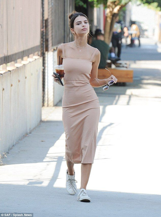 8a0dce1cf554 Work it: Even on a casual coffee run in Los Angeles on Friday, Emily  Ratajkowski was flaunting her figure