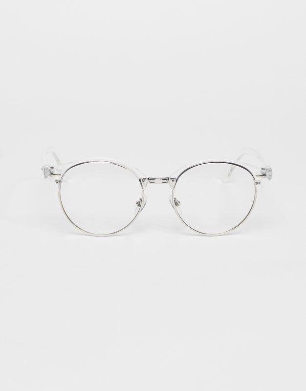f5eceadefa555c Lunettes de vue transparentes - Nouveautés - Femme - PULL BEAR France