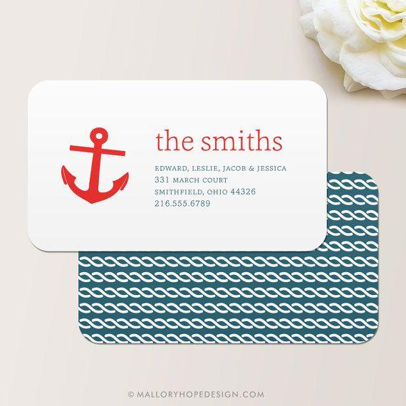 Anchor nautical business card calling card mommy card contact anchor nautical business card calling card mommy card contact card family calling cards family business cards mom business cards colourmoves