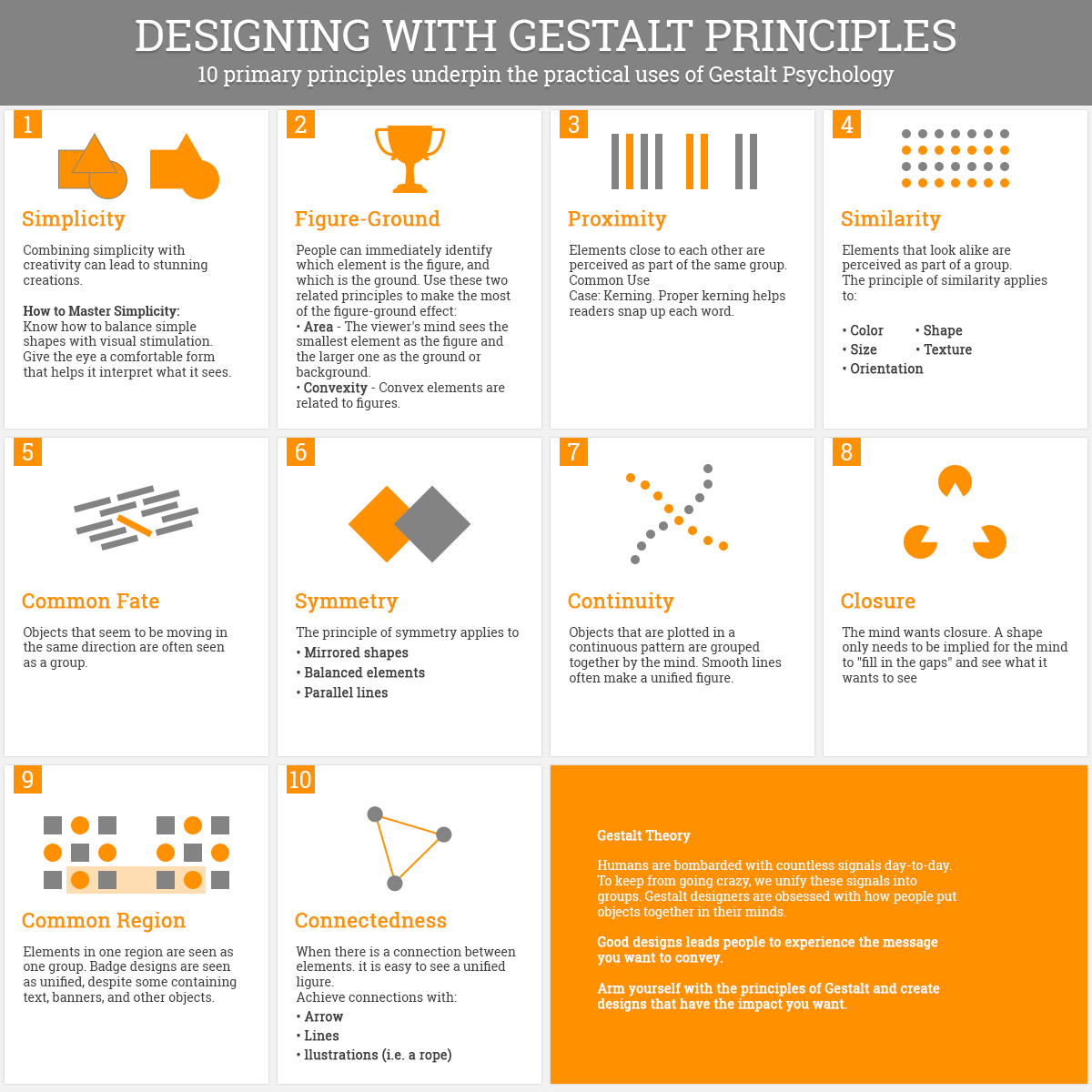 Designing With Gestalt Principles Design Theory Web Design Infographic Visual Communication Design