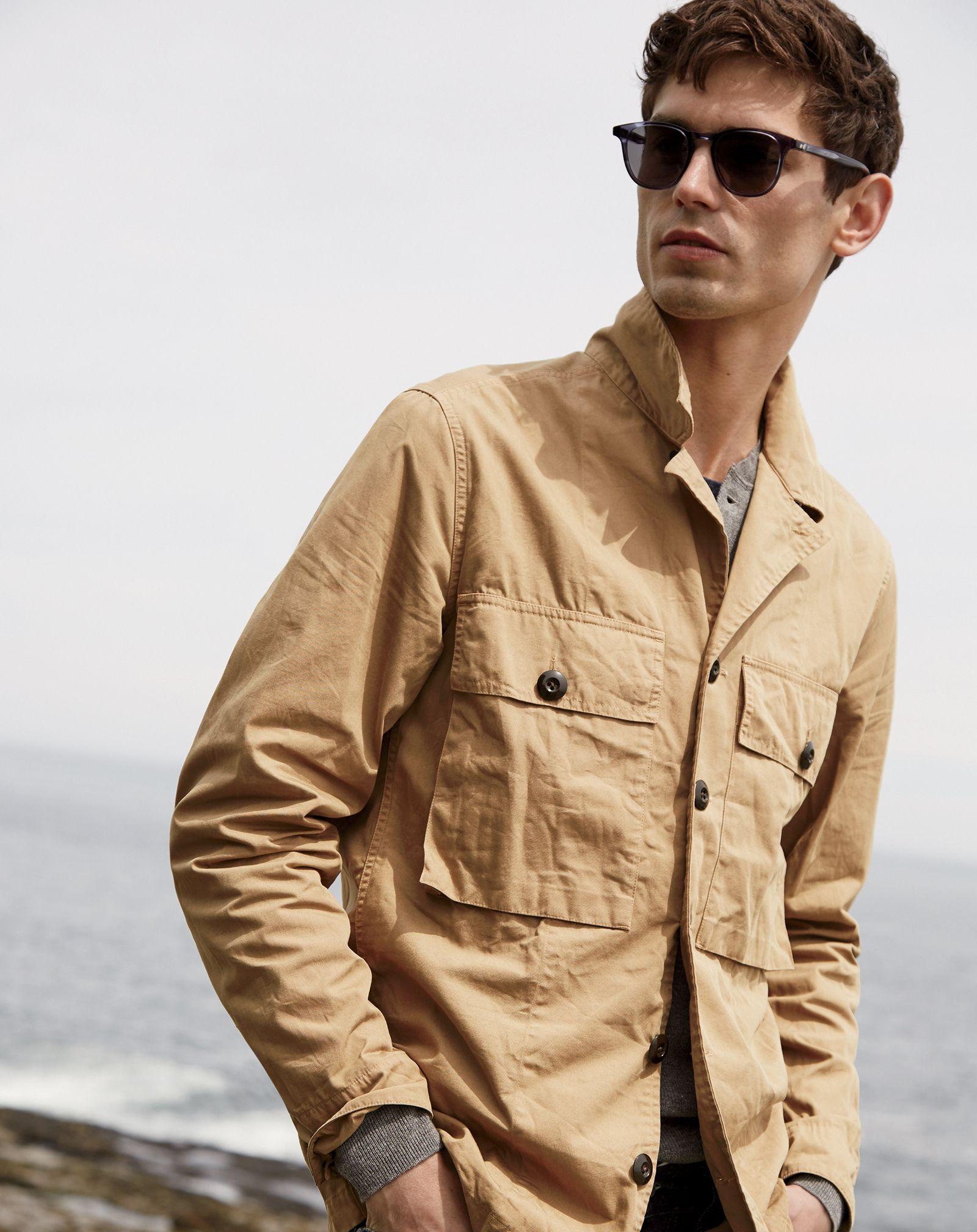 669e0ec18 J. Crew Men's Wallace & Barnes Military Shirt-Jacket in Khaki | Wish ...
