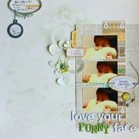 Love your funny face  A Project by yakumari from our Scrapbooking Gallery originally submitted 10/14/12 at 11:18 PM