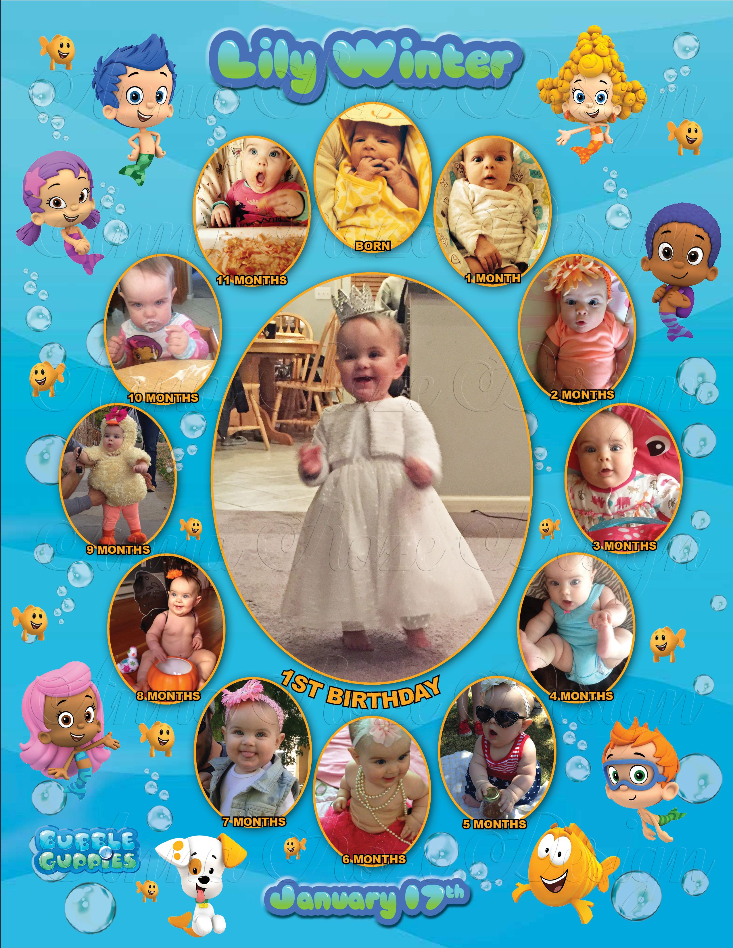 bubble guppies monthly collage the best way to remember your