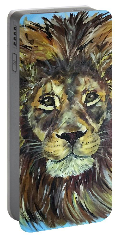 Braveheart - Lion: A design by Kelly Goss Art printed on to portable battery chargers with various recharge capacities. For recharging your smartphone or tablet.