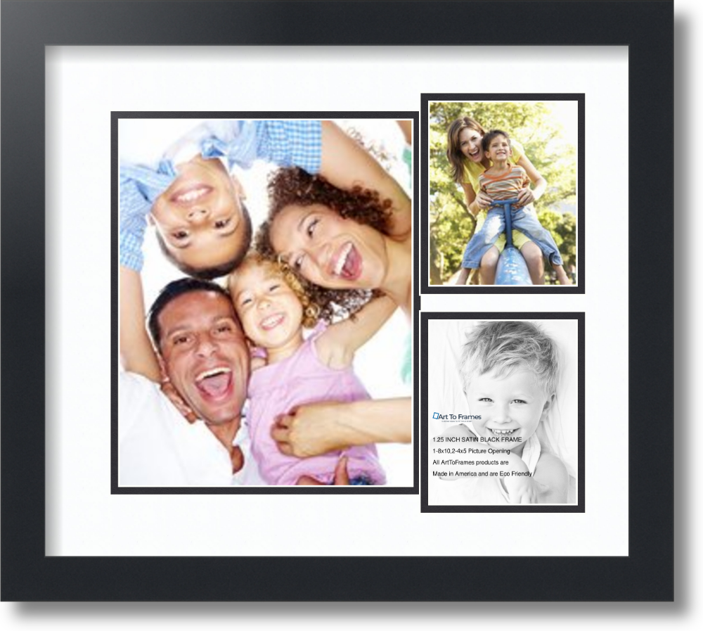Black 4x5 Picture Photo Frame Hang