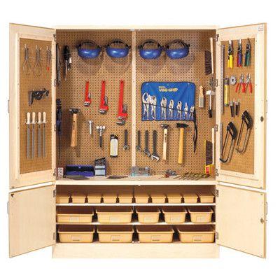 Great garage storage idea.