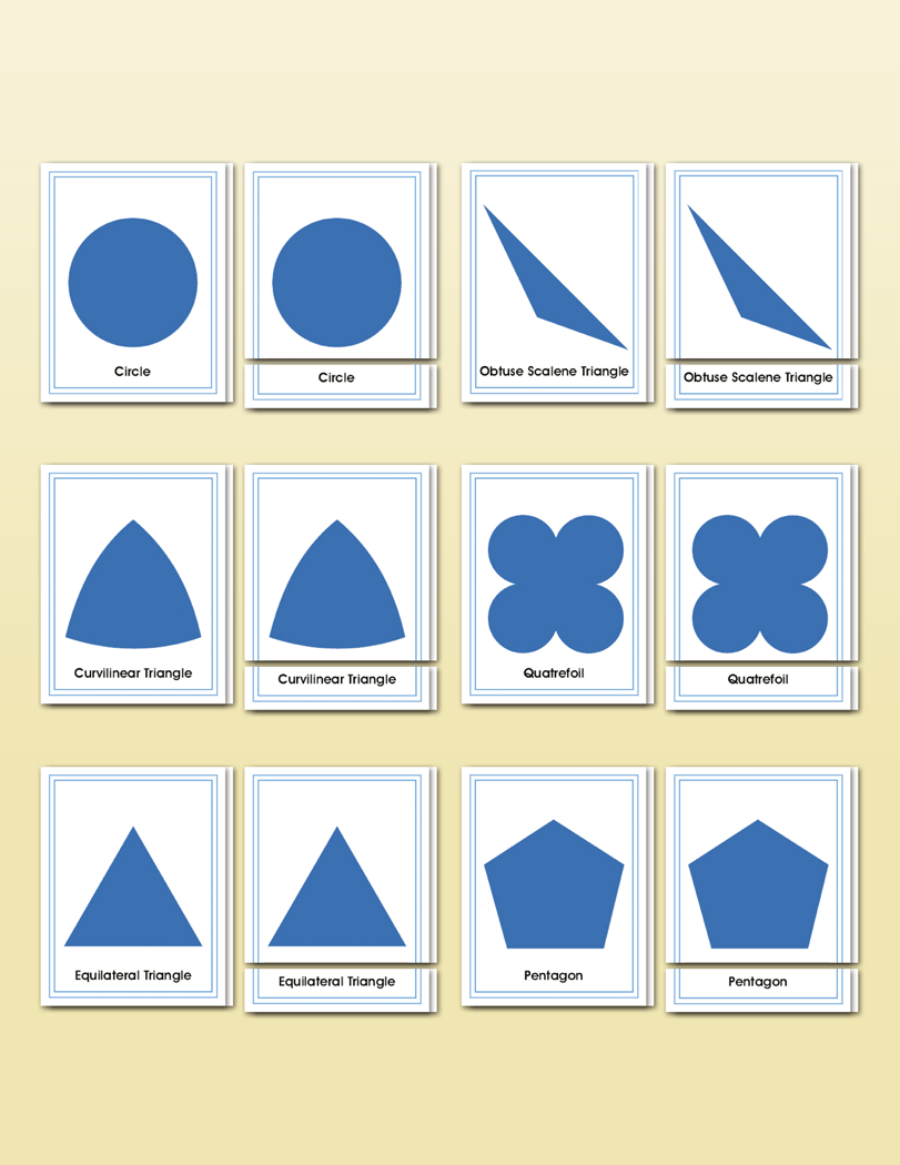 Geometric Cabinet Shapes Matching | Montessori Research and ...